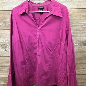 Lane Bryant Pink 22/24 Button Down blouse